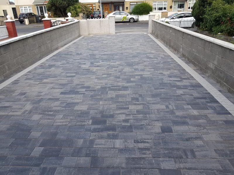 Charcoal Block Paving Driveway